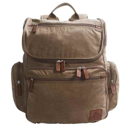 """Buxton Expedition II Huntington Backpack - 15"""" Laptop Sleeve in Olive - Closeouts"""