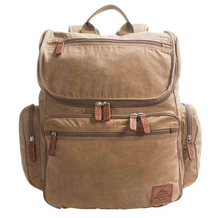 """Buxton Expedition II Huntington Backpack - 15"""" Laptop Sleeve in Tan - Closeouts"""