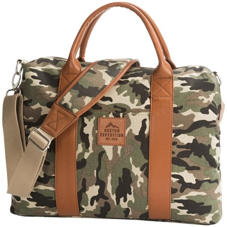 Buxton Expedition II Huntington Laptop Briefcase in Camo