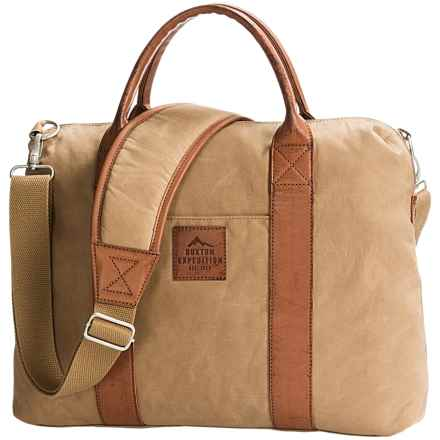Buxton Expedition II Huntington Laptop Briefcase in Tan - Closeouts