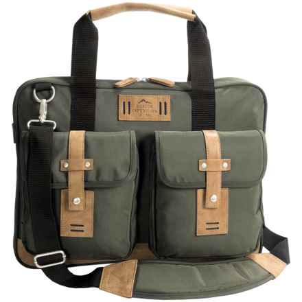 Buxton Expedition II Trekker Laptop Briefcase in Olive - Closeouts