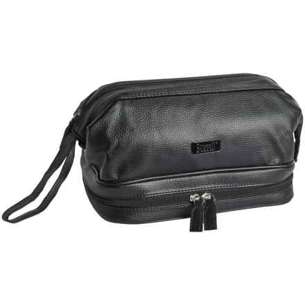 Buxton Framed Travel Kit with Bottles (For Men) in Black - Closeouts