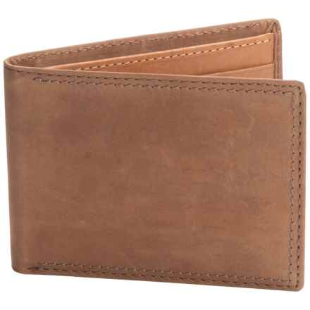 Buxton Leather RFID Slimfold Wallet (For Men) in Brown - Closeouts