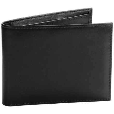 Buxton Regiment Credit Card Billfold - Leather (For Men) in Black - Closeouts