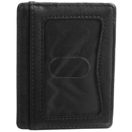 Buxton Regiment Front Pocket Getaway Wallet - Leather (For Men) in Black - Closeouts