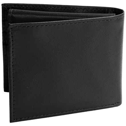 Buxton Ridgewood Credit Card Billfold - Leather (For Men) in Black - Closeouts