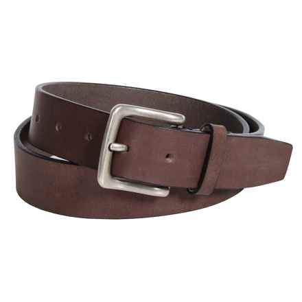 Buxton Tahoe Casual Belt - Genuine Buffalo Leather (For Men) in Brown - Closeouts