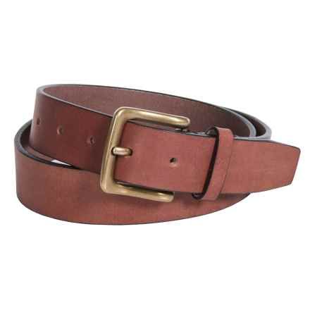 Buxton Tahoe Casual Belt - Genuine Buffalo Leather (For Men) in Tan - Closeouts