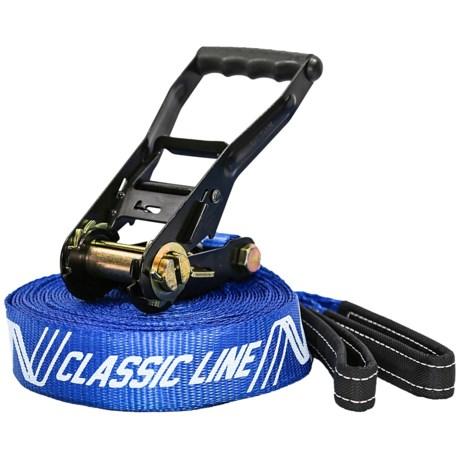 BYA Sport s Classic 50 Slackline Kit - 50' in Blue