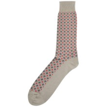 Byford Diamonds Mid-Calf Socks - Peruvian Pima Cotton (For Men) in Mushroom - Closeouts