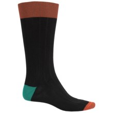 Byford Peruvian Pima Cotton Socks - Crew (For Men) in Black - Closeouts
