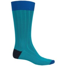 Byford Peruvian Pima Cotton Socks - Crew (For Men) in Teal - Closeouts