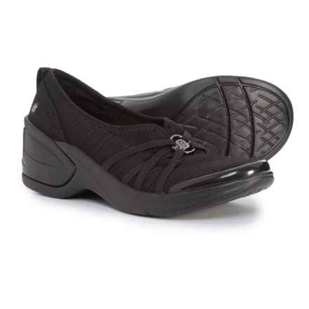 Bzees Melody Wedge Shoes - Slip-Ons (For Women) in Black - Closeouts