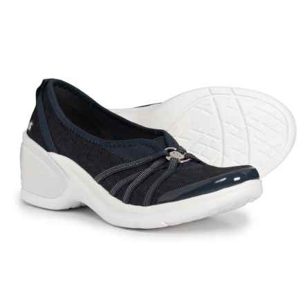 Bzees Melody Wedge Shoes - Slip-Ons (For Women) in Navy Denim - Closeouts