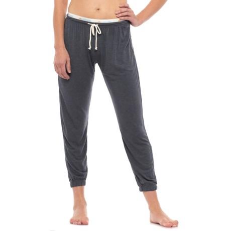C & C California Drawstring Lounge Pants (For Women) in Heather Blue