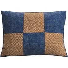 C & F Enterprises Azure Patchwork Pillow Sham - Standard in Azure - Closeouts