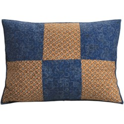 C & F Enterprises Azure Patchwork Pillow Sham - Standard in Azure