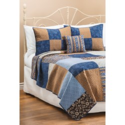 C & F Enterprises Azure Patchwork Quilt - Full-Queen in Azure