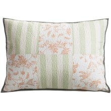 C & F Enterprises Coastal Grey Patchwork Pillow Sham - Standard in Coastal Grey - Closeouts