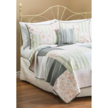 C & F Enterprises Coastal Grey Patchwork Quilt - Twin in Coastal Grey - Closeouts