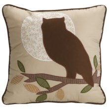 "C & F Enterprises Decorative Pillow - 14x14"" in Owl - Closeouts"
