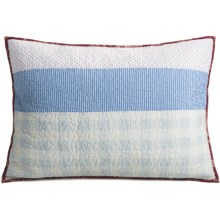 C & F Enterprises Emma Patchwork Stripe Pillow Sham - Standard in Emma - Closeouts