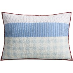 C & F Enterprises Emma Patchwork Stripe Pillow Sham - Standard in Emma