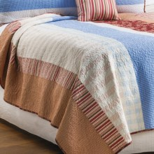 C & F Enterprises Emma Patchwork Stripe Quilt - Full-Queen in Emma - Closeouts