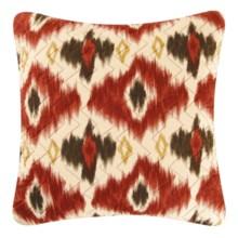 "C & F Enterprises Ikat Decorative Pillow - 14x14"" in Brown - Closeouts"