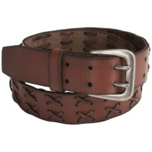 C-Red X Laced Belt - Leather (For Men) in Brown - Closeouts