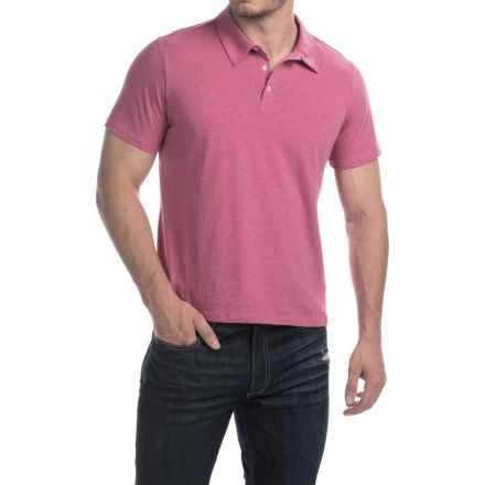 C89men Cotton Polo Shirt - Short Sleeve (For Men) in Cayenne Heather - Closeouts