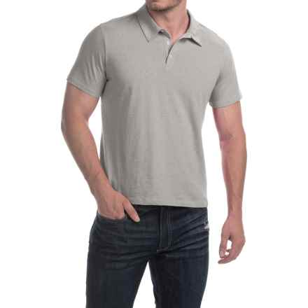 C89men Cotton Polo Shirt - Short Sleeve (For Men) in Grey Heather - Closeouts