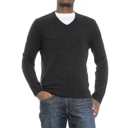 C89men Jersey Stitch Wool Sweater - Wool Blend, V-Neck (For Men) in Charcoal - Closeouts