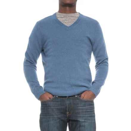 C89men Jersey Stitch Wool Sweater - Wool Blend, V-Neck (For Men) in Denim - Closeouts