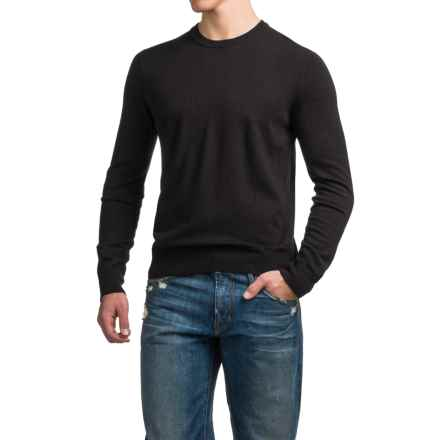 C89men Merino Wool Sweater - Crew Neck (For Men) in Black - Closeouts