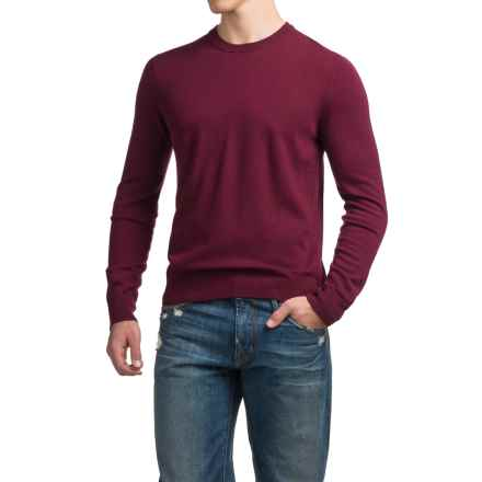 C89men Merino Wool Sweater - Crew Neck (For Men) in Burgundy - Closeouts