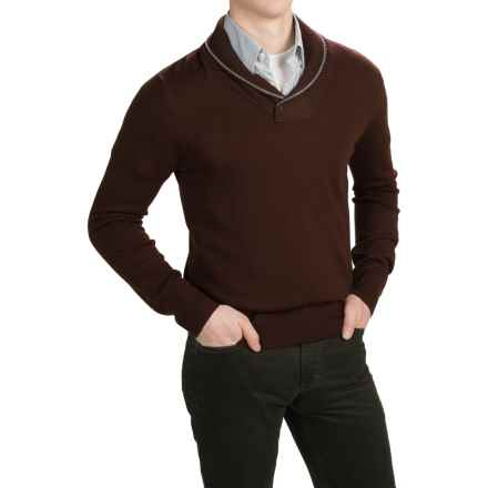 C89men Merino Wool Sweater - Shawl Collar (For Men) in Chianti - Closeouts