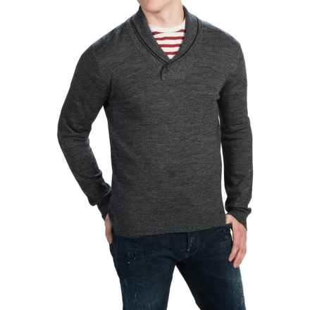 C89men Merino Wool Sweater - Shawl Collar (For Men) in Ebony - Closeouts