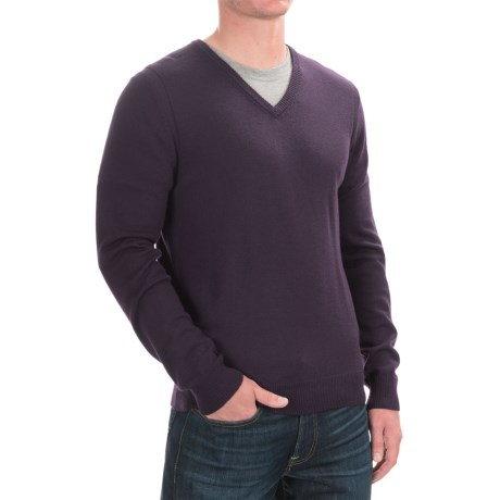 C89men Merino Wool Sweater - V-Neck (For Men)