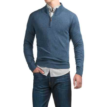 C89men Merino Wool Sweater - Zip Neck (For Men) in Cadet - Overstock