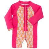Cabana Life Baby Bodysuit - UPF 50+, Long Sleeve (For Infant Girls)