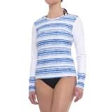 Cabana Life Shoulder-Zip Rash Guard - UPF 50+, Long Sleeve (For Women)