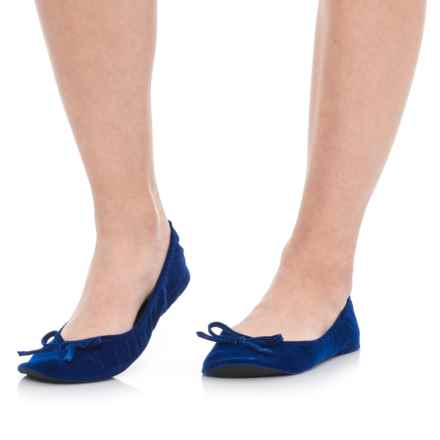 Portable Pocket Ballet Flats (For Women) in Navy - Closeouts