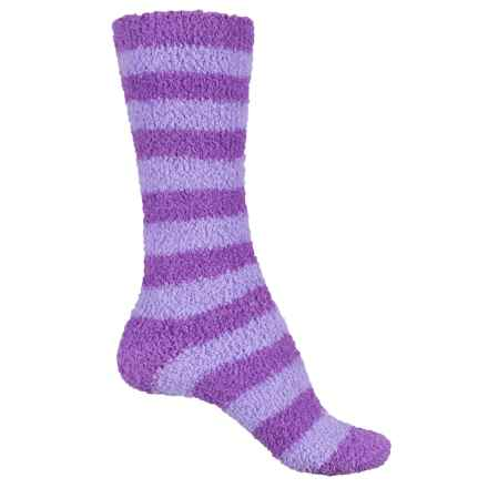 Cabeau Scent-Infused Fluffy Socks - Lavender, Crew (For Women) in Purple - Closeouts