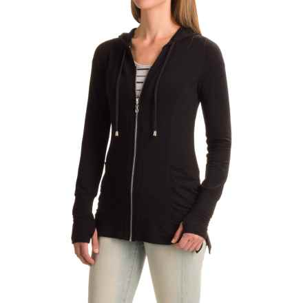 Cable & Gauge Baby French Terry Hoodie (For Women) in Black - Closeouts