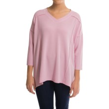 Cable & Gauge Baby Terry Shirt - 3/4 Sleeve (For Women) in Lillet Pink - Closeouts