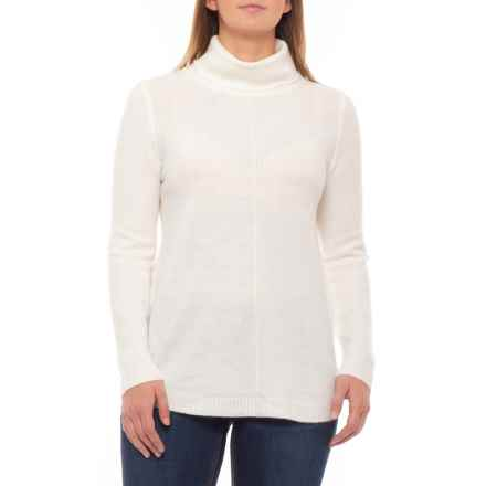 Cable & Gauge Cozy Round Hem Turtleneck Sweater (For Women) in Ivory - Closeouts