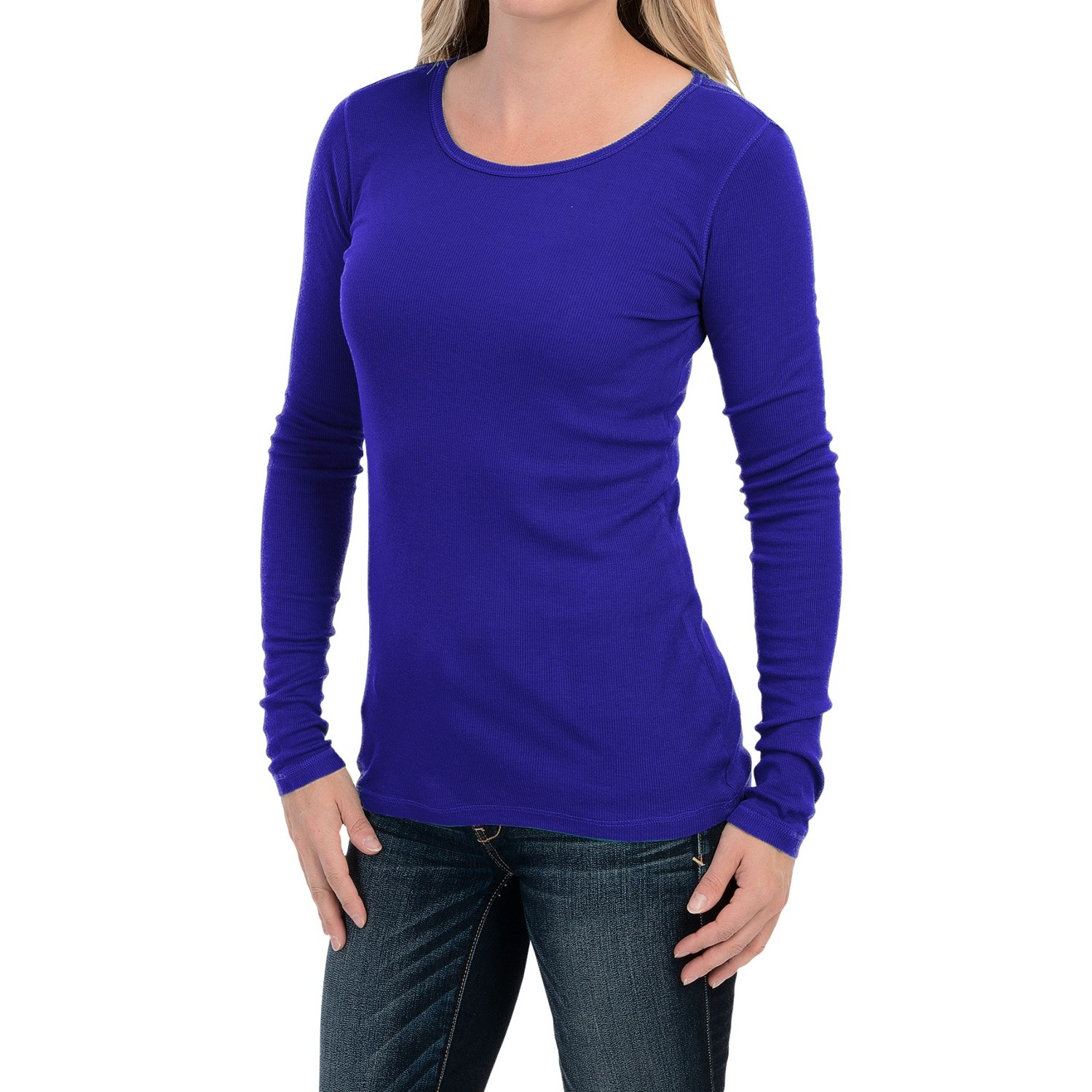 Cable Gauge Lightweight Ribbed Shirt For Women Save 58