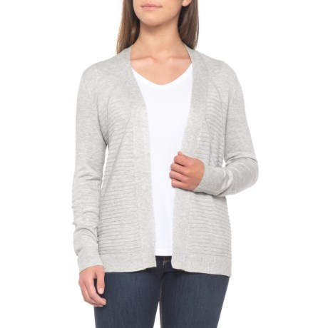 Cable Gauge Mixed Stitch Duster Cardigan Sweater For Women