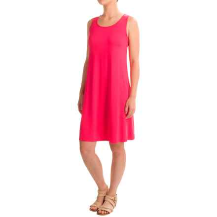 Cable & Gauge Overlap Keyhole Tank Dress - Sleeveless (For Women) in Juicy Berry - Closeouts